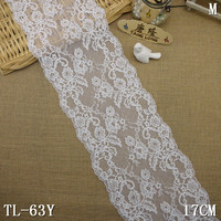 17 cm venise stretch white lace trimming