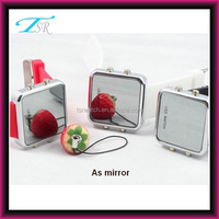 square face silicone strap sport mirror led watch hot with multi function