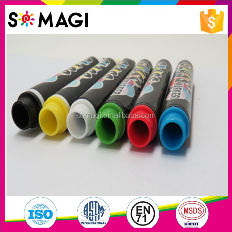 Permanent Fluorescent Liquid LED Writing Board Pen Customized Design For Promote New Items In Restaurants And Bars