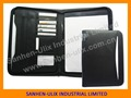 Custom Design Europe Business Pu Leather A4 Portfolio Folder With Zipper