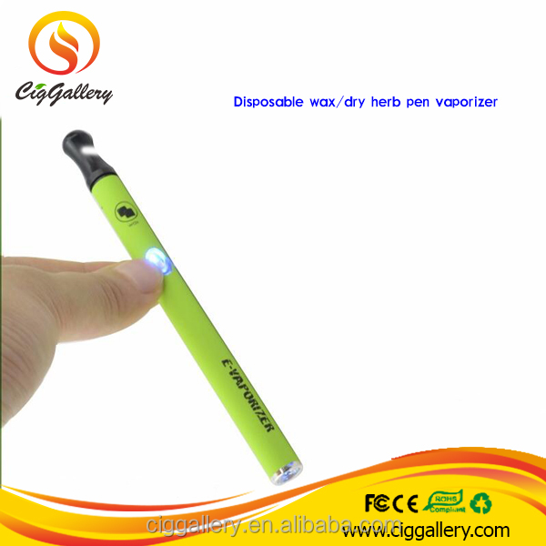 Ciggallery popular 500 puffs 280mah dry herb wax disposable vaporizer pen
