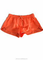 2015 -2016 spring summer fashion women girl's orange hot leisure and outdoor sports beach polyester pongee short pant