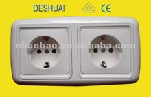 European Electrical Wall Outlet Double Socket