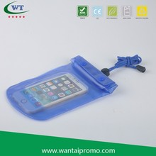 New Design PVC Waterproof Mobile Phone Pouch With Neck Cord