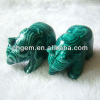 Malachite carved animal &bear carving