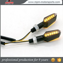 Custom 12 led motorcycle turn signal running front lights for Suzuki Haojue