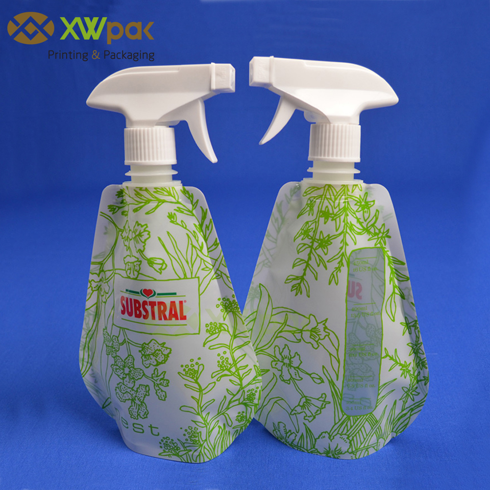 New Design Garden Foldable Spary Spout Liquid Packaging Pouch