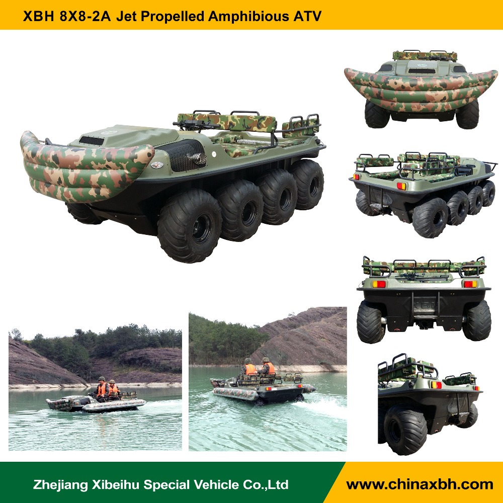 XBH 8x8-2A Jet Propelled Vehicle tank atv amphibious ATV all terrain vehicle amphibious boat