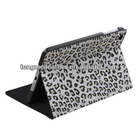 White Leopard Skin Wallet Pouch Case For iPad 2/3/4,Coach Case For Ipad 2/3/4