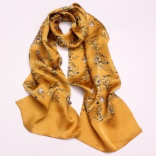 Custom Men Scarf Chinoiserie Animal Pattern