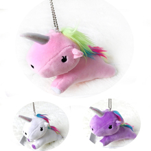 China Supplier Small Cute Stuffed Toy Plush Unicorn Keychain For Decoration