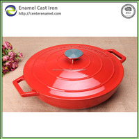 Colored Enamel Coated Cast Iron Casseroles With Cover 4.6QT