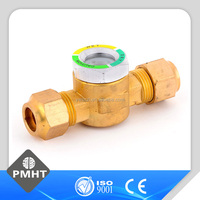 refrigeration parts brass welding round sight glass glass tube sight glass
