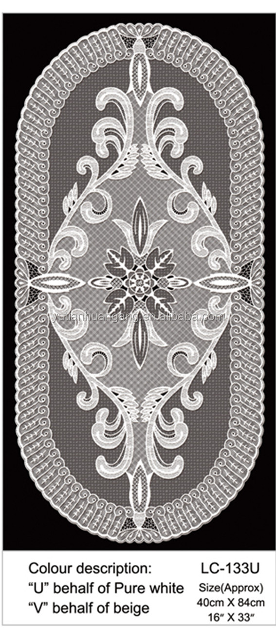 High quality supply directly restaurants white vinyl lace oval placemats