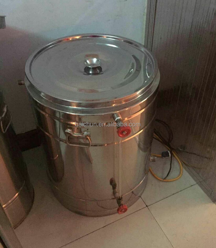Bee honey process stainless tank, heating honey tank with honey gate