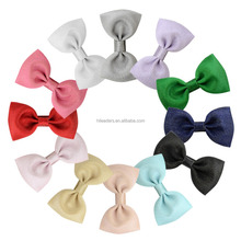 Baby Girl Hairbow Hairpins Glitter Ribbon Bow Hair Clips