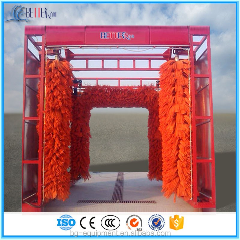 Gantry bus wash machine and best automatic soft brushes truck washing system