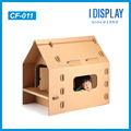 corrugated cardboard playhouse DIY printable cardboard playhouse for kids