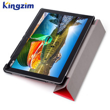 Three folds stand PU leather tablet case design for asus Zenpad 10
