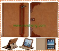 New Arrival Unique Zipper leather case for ipad air