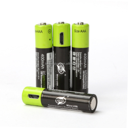 Factory wholesales price AAA Rechargeable Battery Pack 1.5V Micro USB Lithium Polymer