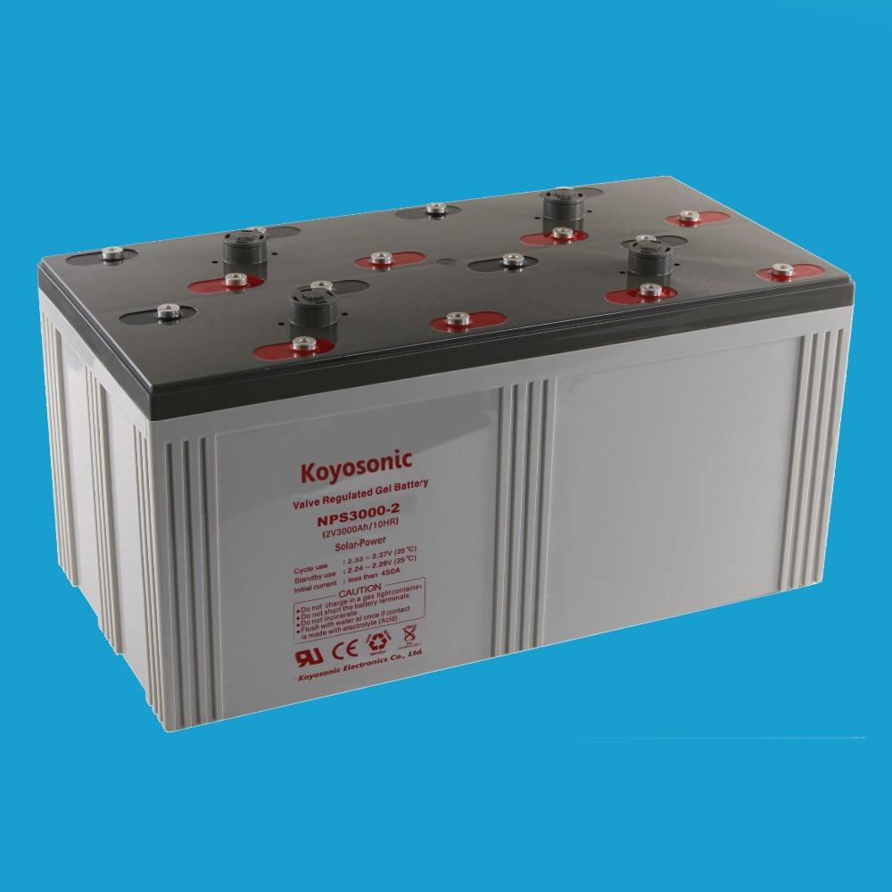 2v High Capacity Solar Battery 3000ah Vrla Battery Deep