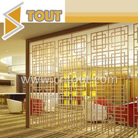 Customized Restaurant Hotel Decoration Stainless Steel Screen