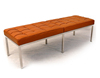 Designer 3-Seat leather Bench