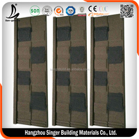 Brown color stone coated metal roof tile /shingle tile