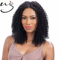 Premium quality hand tied wig 100% Indian Remy human hair natural black lace front wigs 150% density afro curly wigs for women