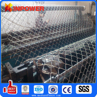 Heavy Duty Woven Wire Fence / plastic coated chain link garden woven fence