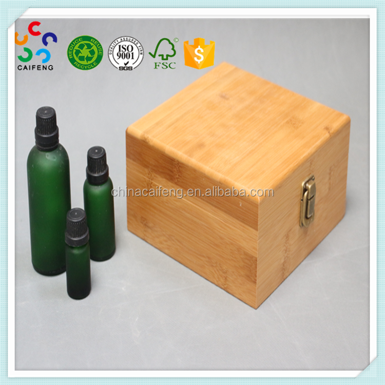 Handmade natural wooden essential oil carrying case for sale
