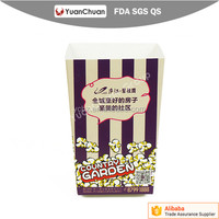 China supplier food grade paper popcorn packing box custom size