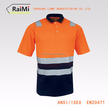 Chinese Manufacturer safety reflective t-shirt polyester