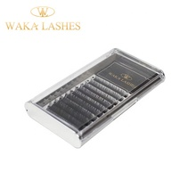 2020 Waka Lashes mink/ silk /<strong>flat</strong>/blooming eyelash extension wholesale private label