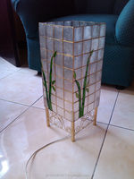 Capiz Lamp Bamboo Design