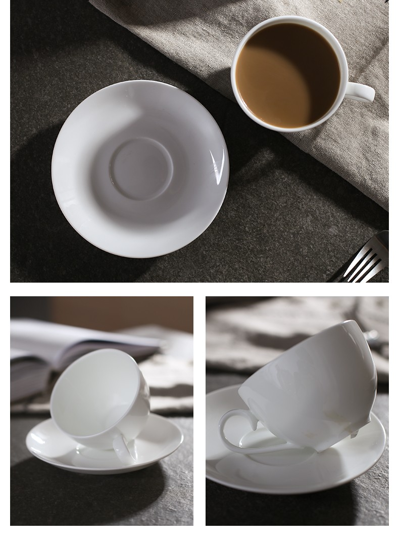 Fine bone china round porcelain tea saucers cup to sublimate with high quality