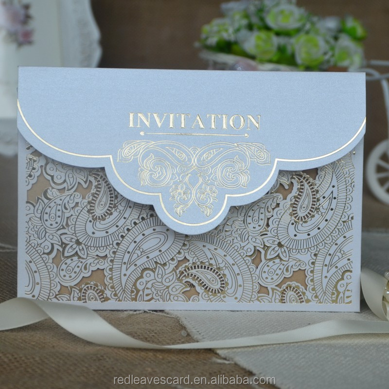 Manufacturer wholesale visa invitation letter new style paper wedding cards