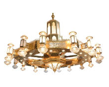 Mosque big iron chandelier for Muslim decoration