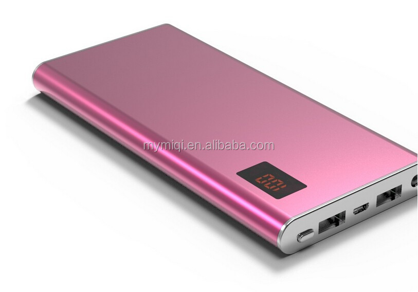 slim portable usb power bank 5000mah with charging cable