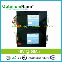 Rechargeable 48V lifepo4 lithium battery 50Ah ion pack with communication function intellegent BMS