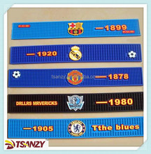 football logo soft PVC bar mats,beer logo bar mat