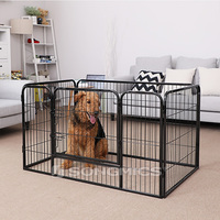 Songmics pet products portable removable heavy duty pet wire folding dog cage
