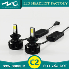 33w 3000lm auto led headlight h7 lighting than xenon hid kit