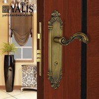 Antique Door Handle Bedroom Kinds Of Locks For Entry Internal Function With 320mm Plate