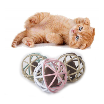 2019 Popular New products  Pet Cat Kitten Funny Playing Toy false Mouse Mice  Rat  with sound in Cage Ball