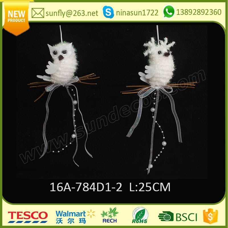 holiday time christmas home decorations 2016 china wholesale hanging 6cm owl tree ornaments