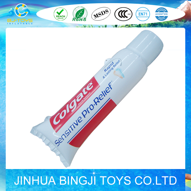 inflatable pvc toothpaste inflatable tooth tube promotion