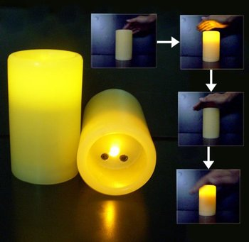 "Wave Sensor Flameless Wax Candle 3""x5"""