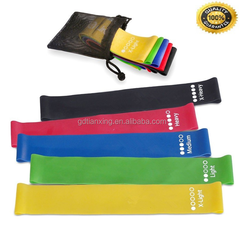 Yoga Pilates Latex Stretch Bands and Mini loop bands Custom Resistance Band